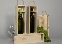 Wine box with sliding lid