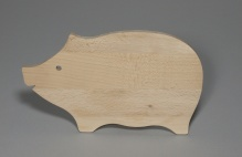 Board in shape of pig
