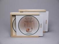CD-Kisten, mit weißem bedruckbarem Schiebedeckel