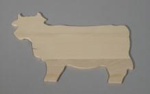 Board in shape of cow