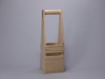 Flaschenträger -raues Holz